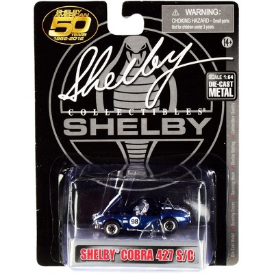 """1965 Shelby Cobra 427 S/C #98 Blue Met. w/White Stripes """"Shelby American 50 Years"""" 1962-2012 1/64 Diecast by Shelby Collectibles"""