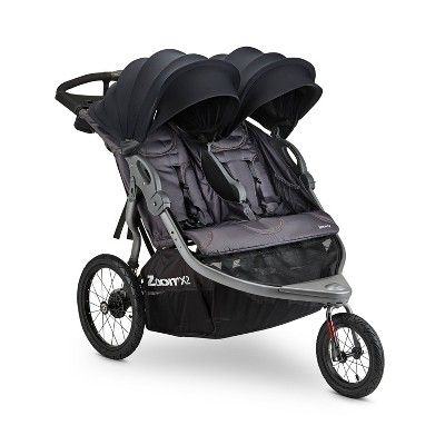 Joovy ZoomX2 Double Jogging Stroller - Forged Iron