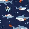 Toddler Boys' 4pc Shark Snug Fit Pajama Set - Just One You® made by carter's Orange/Blue - image 3 of 3