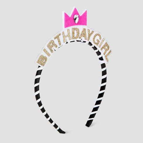 Girls' Birthday Girl Headband - Cat & Jack™ Gold - image 1 of 1