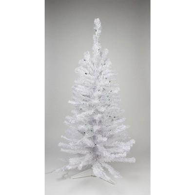 Northlight 3' Pre-Lit Medium White Pine Artificial Christmas Tree - Green Lights