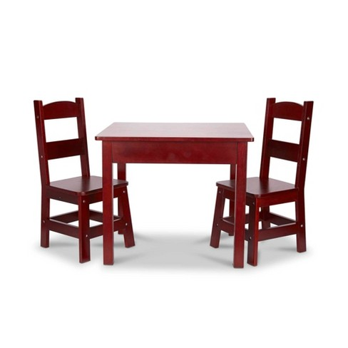 Melissa Doug Wooden Table And Chairs Set Espresso