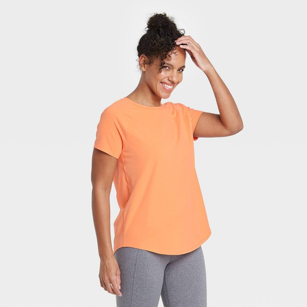 Women 39 S Essential Crewneck Short Sleeve T Shirt All In Motion 8482 Bright Orange Xxl