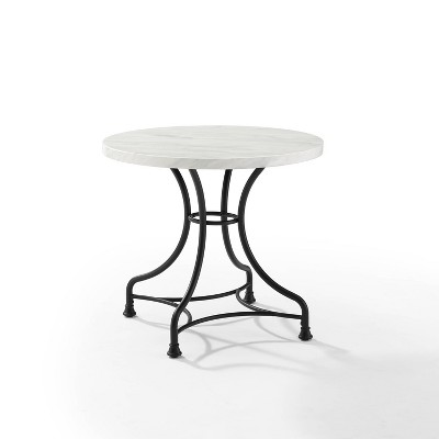 "32"" Madeleine Round Dining Table Matte Black - Crosley"