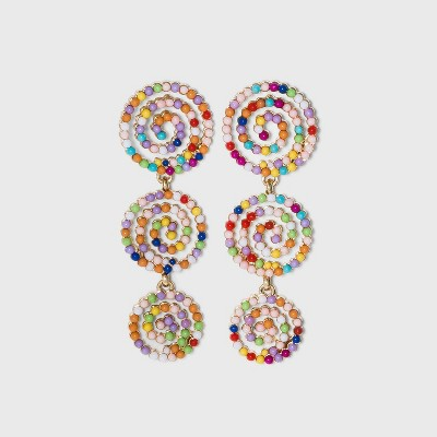SUGARFIX by BaubleBar Beaded Swirl Drop Earrings