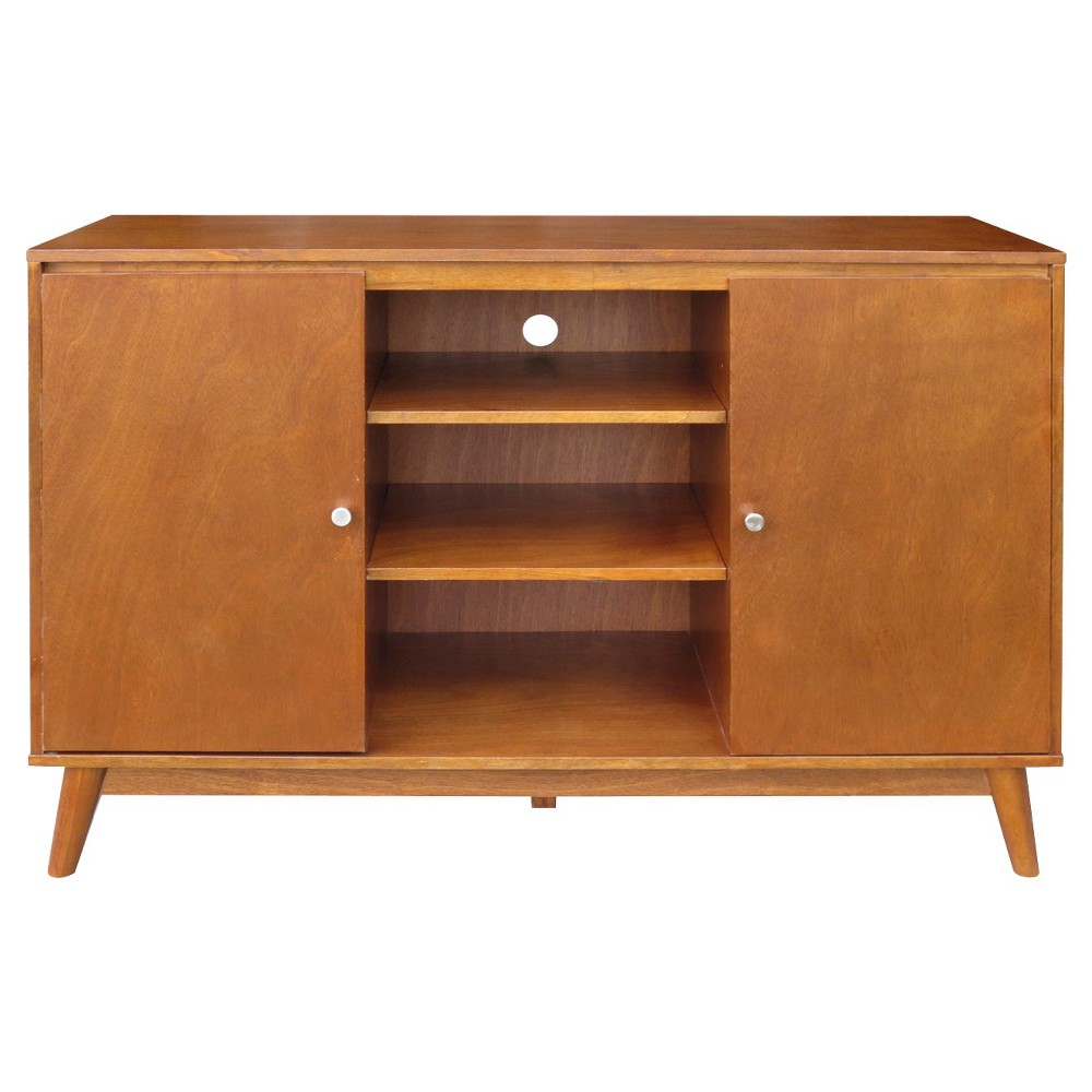 Porter Mid Century Modern Large Accent Cabinet, Brown