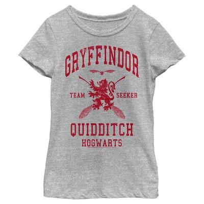 Girl's Harry Potter Gryffindor Quidditch Team Seeker T-Shirt