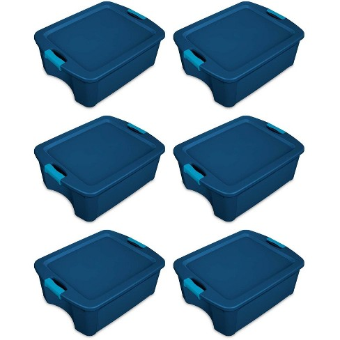 Sterilite 12 Gallon Latch and Carry Storage Tote, True Blue (6 Pack) | 14447406 - image 1 of 2