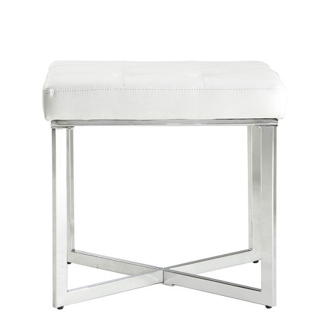 Groovy Julia Vanity Bench White Chrome Carolina Chair Table Lamtechconsult Wood Chair Design Ideas Lamtechconsultcom