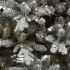 7ft Pre-lit Artificial Christmas Tree Flocked Blue Green Balsam Fir Auto Connect Clear Lights - Wondershop™ - image 2 of 4