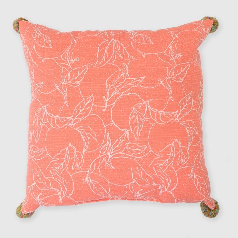 Oversize Square Oranges Outdoor Pillow - Opalhouse™ - image 1 of 3