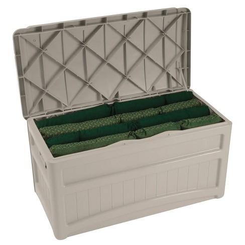 Suncast 73 Gallon Outdoor Patio Deck Resin Storage Organization Chest Box Taupe Target