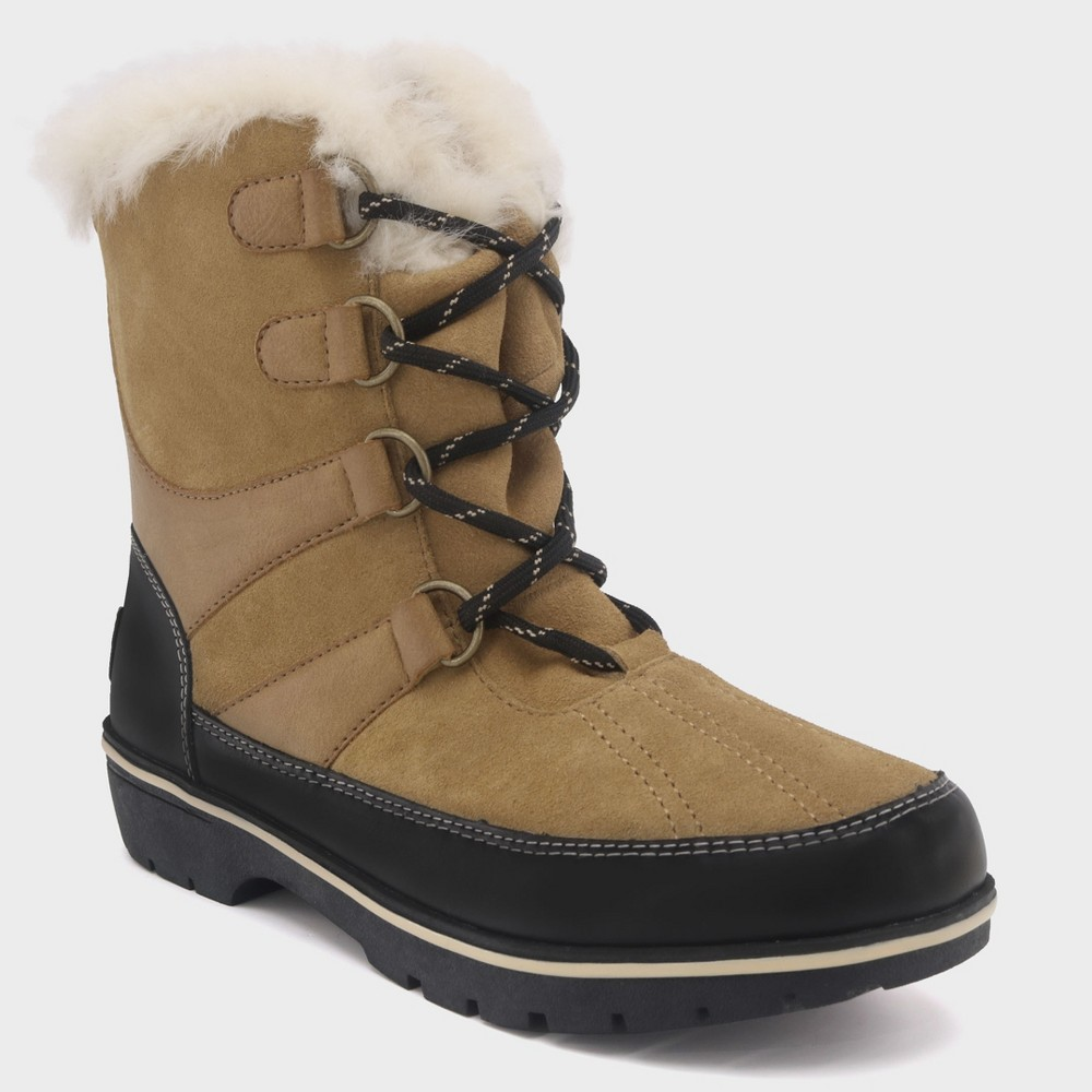 Women's Ellysia Wide Width Short Functional Winter Boots - C9 Champion Tan 7W, Size: 7 Wide