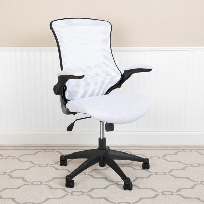 Emma and Oliver Mid-Back Mesh Swivel Ergonomic Task Office Chair with Flip-Up Arms