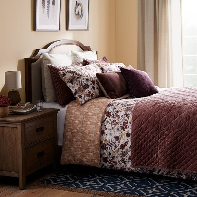 Mauve Floral Traditional Fall Bedding Collection - Threshold™
