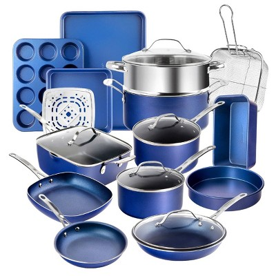 Granitestone Blue 20pc Cookware/Bakeware Set
