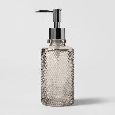 Glass Soap/Lotion Dispenser Gray - Threshold™