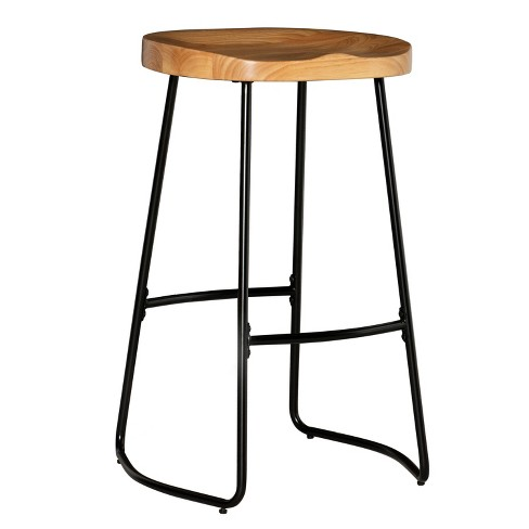 Sensational Tate Tractor Seat Bar Stool Brown Linon Lamtechconsult Wood Chair Design Ideas Lamtechconsultcom