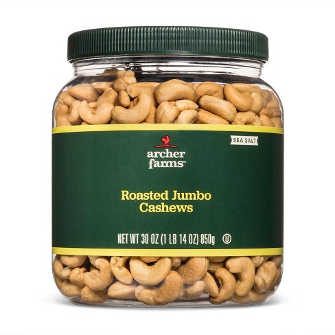 Salted Roasted Jumbo Cashews - 30oz - Archer Farms™ - image 1 of 2