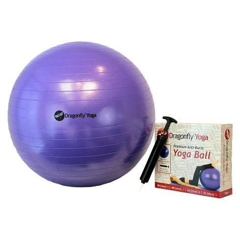 DragonFly Yoga Ball - Purple (65 cm) - image 1 of 1