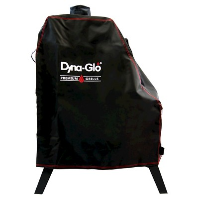 Premium Vertical Offset Charcoal Smoker Cover - Black - Dyna-Glo