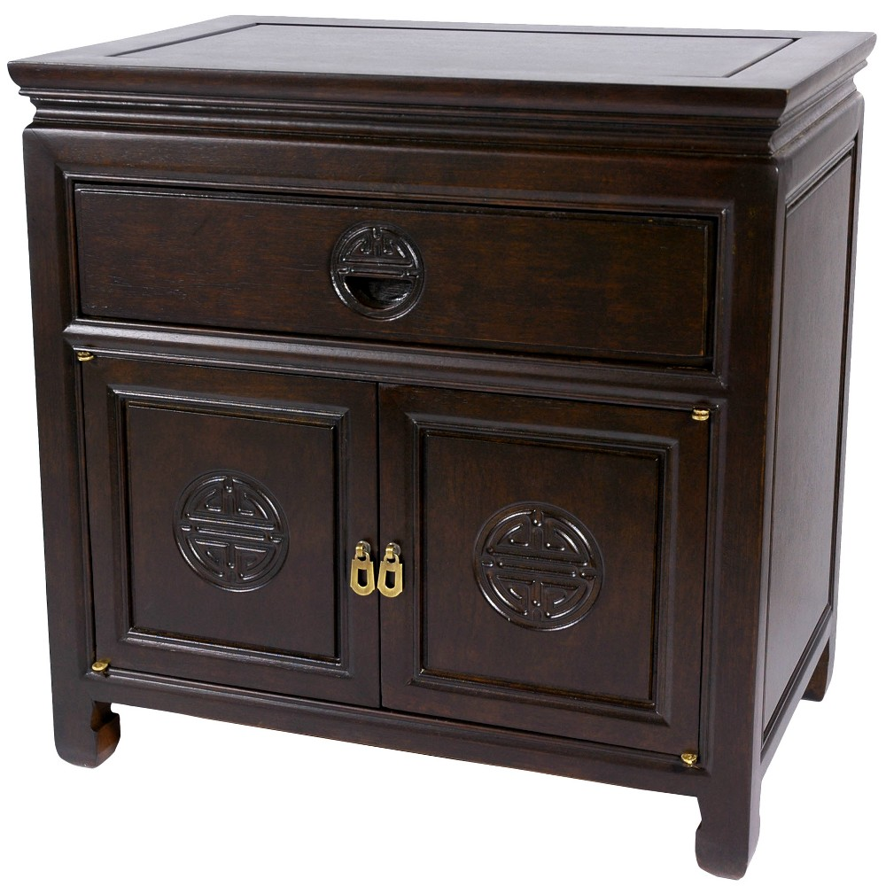 Rosewood Nightstand Mahogany (Brown) - Oriental Furniture Rosewood Nightstand Mahogany - Oriental Furniture Age Group: Adult.