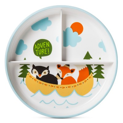 Divided Dinner Plate 7.37in Animal Decal - Pillowfort™
