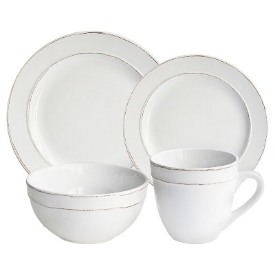 American Atelier® Stoneware 16pc Dinnerware Set White