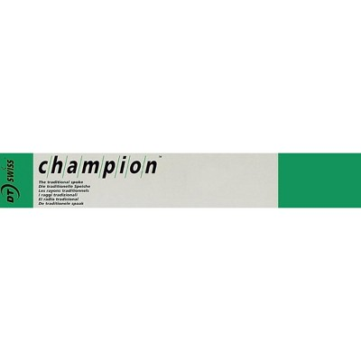 DT Swiss Champion Bicycle Spoke 2.0mm//263mm//J//bend//Black//Box of 72