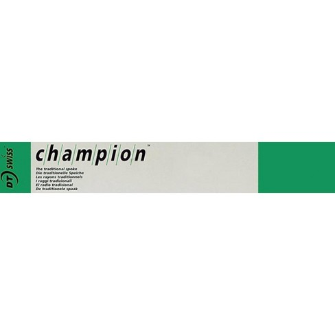 DT Swiss Champion Spoke: 1.8mm 310mm J-bend Silver Box of 100 Bicycle Spokes - image 1 of 1