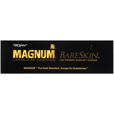 Trojan Magnum Bareskin Lubricated Condoms 10ct Target