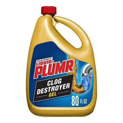 Liquid-Plumr Pro-Strength Full Clog Destroyer Plus PipeGuard - 80 fl oz