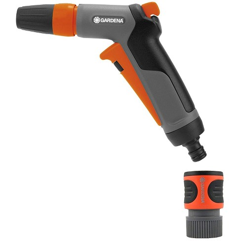 Gardena Frost Proof Adjustable 2 in 1 Hose Nozzle for Garden Water Hose, Orange - image 1 of 4