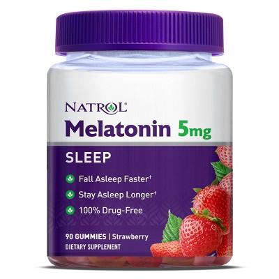 Natrol Melatonin 5mg Sleep Aid Gummies - Strawberry - 90ct