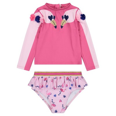 Andy & Evan  Toddler Long Sleeve Two Piece Bathing Suit