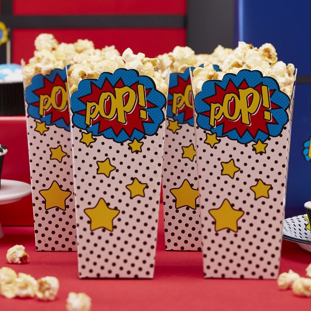 Image of 8ct Popcorn Boxes Comic Superhero