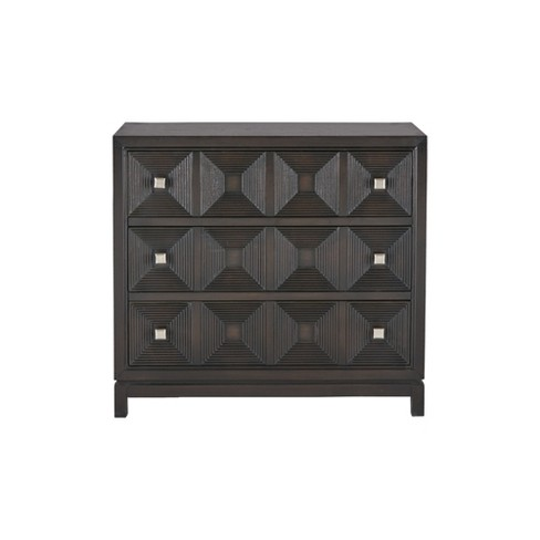 Perry Accent Chest with 3 Drawers Brown - image 1 of 4