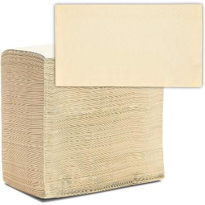 "Blue Panda 200-Pack Bamboo Dinner Napkins, Natural Beige, Disposable Napkins, Bathroom Paper Guest Towels, 6.5"""