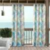 Tahiti Indoor/Outdoor Window Curtain Panel - Green/Blue - Elrene Home Fashions - image 2 of 4