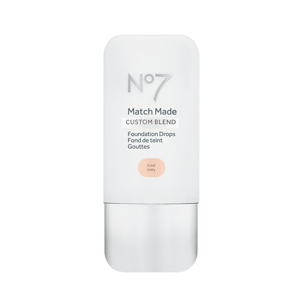 No7 Match Made Foundation Drops Cool Ivory - 0.5oz