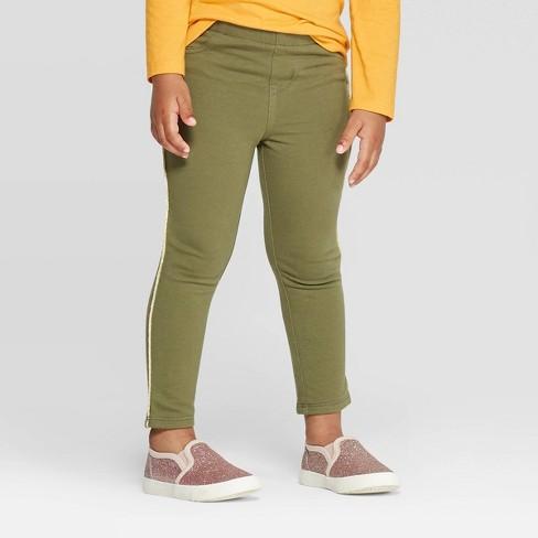on wholesale finest selection fashion style Toddler Girls' Side Stripe Jeggings - Cat & Jack™ Olive