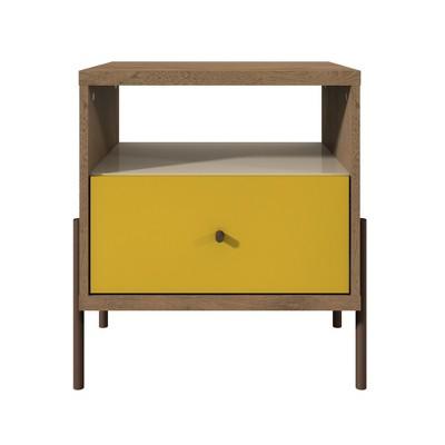 Joy Nightstand Yellow - Manhattan Comfort