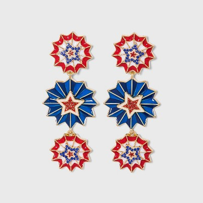 SUGARFIX by BaubleBar Drop Earrings - Red/White/Blue