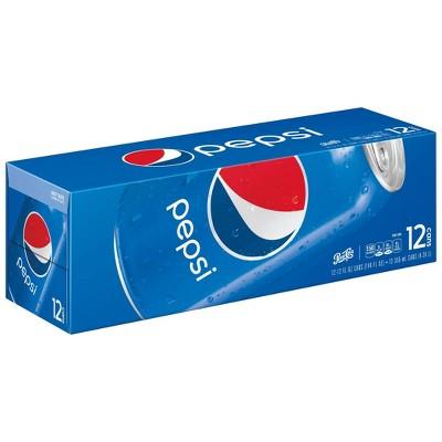 Pepsi Cola Soda - 12pk/12 fl oz Cans