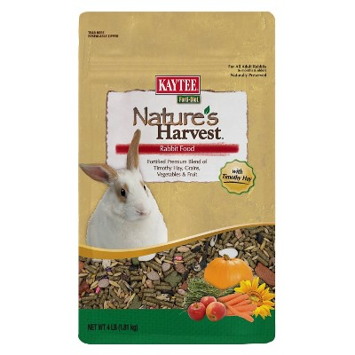 Kaytee Nature's Harvest Rabbit Small Animal Food - 4lbs