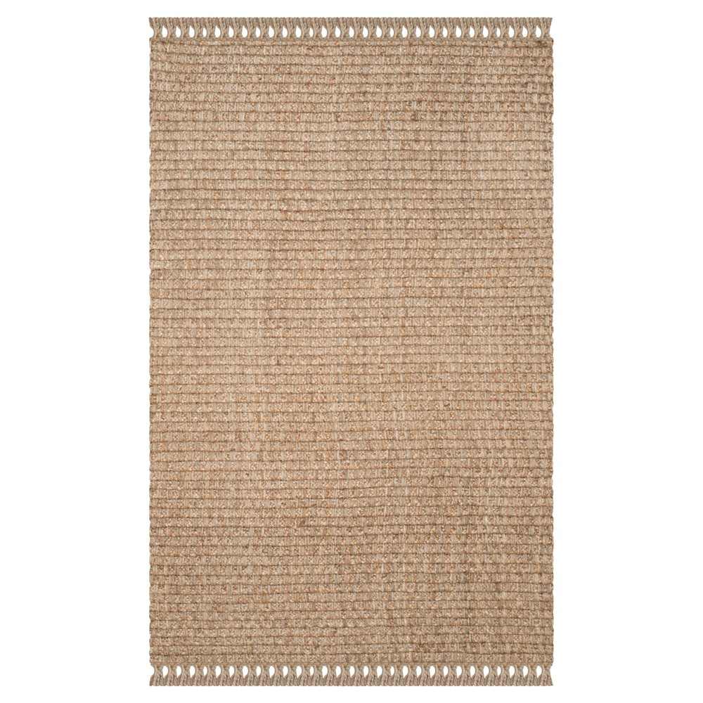 Natural Solid Loomed Area Rug - (6'x9') - Safavieh, White