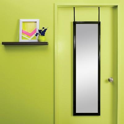 Over-the-Door Mirror Black - Room Essentials™