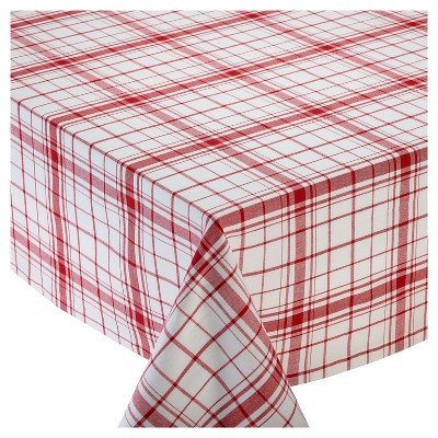 Red Down Home Plaid Tablecloth (70 )- Design Imports
