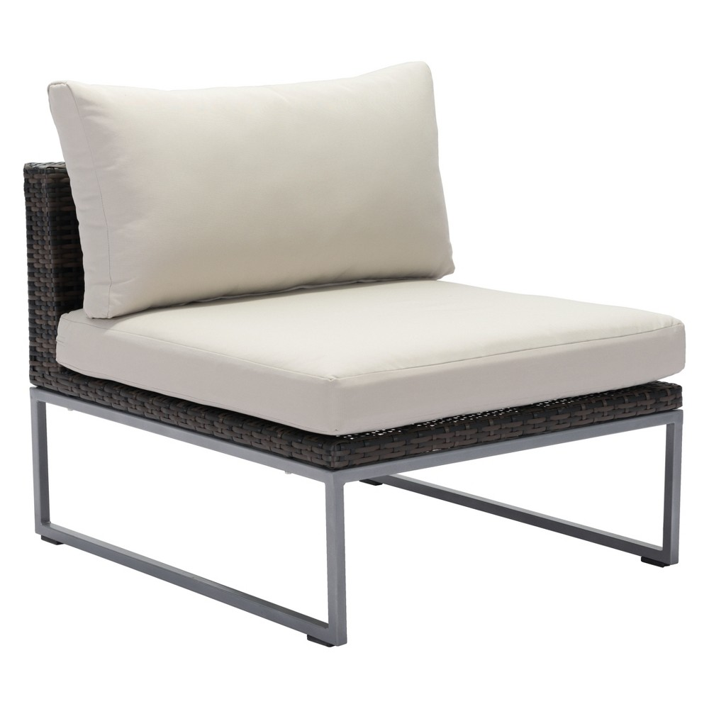 Modern Middle Chair Brown/Beige - ZM Home