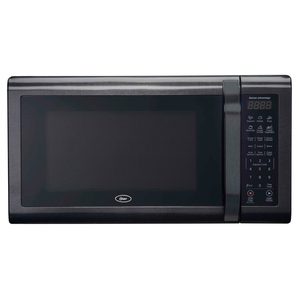 Oster 1.4 Black Stainless Microwave Oven, Black/Silver 52101876